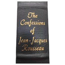 The Confessions of Jean-Jacques Rousseau Jean-Jacques Rousseau - Leather Bound - Pristine