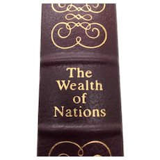 The Wealth of Nations - Adam Smith - Leather Bound - Pristine