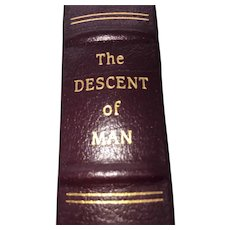 The Descent of Man - Charles Darwin - Leather Bound - Pristine