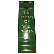 The Poems of W.B Yeats - W.B. Yeats - Leather Bound - Pristine