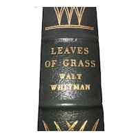 Leaves of Green - Walt Whitman - Leather Bound - Pristine