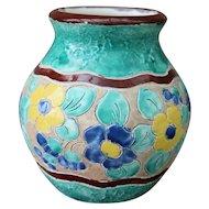 Jerome Massier Vallauris Floral Designed Vase