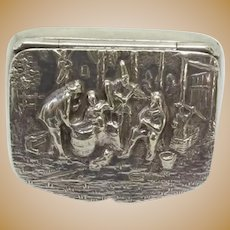 Hans Jensen Danish Silver Plated Pill Box