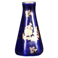 Porcelain Tapered Blue Vase from Limoges