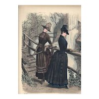 French Fashion Print # 621 La Saison Journal Illustré des Dames - Sept 1885