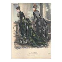 French Fashion Print # 607 La Saison - Journal Illustré des Dames - April 1885