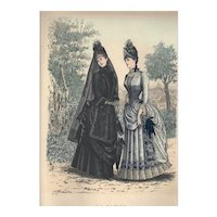 French Fashion Print # 617 La Saison - Journal Illustré des Dames - Jul 1885