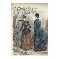 French Fashion Print # 606 La Saison - Journal Illustré des Dames - Apr 1885