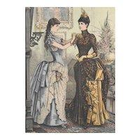 French Fashion Print # 627 La Saison - Journal Illustré des Dames - Nov 1885