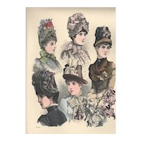 French Fashion Print # 612 La Saison - Journal Illustré des Dames - Jun 1885