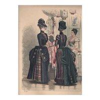 French Fashion Print # 626 La Saison - Journal Illustré des Dames - Oct 1885
