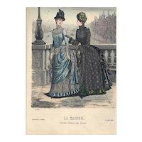 French Fashion Print # 608 La Saison - Journal Illustré des Dames - April 1885