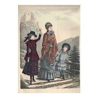 French Fashion Print # 553 La Saison - Journal Illustré des Dames - Oct 1883