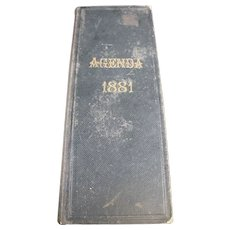 1881 French Agenda - Handwritten From a French Wine Merchant or Trader