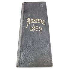 1889 French Agenda - Handwritten From a French Wine Merchant or Trader