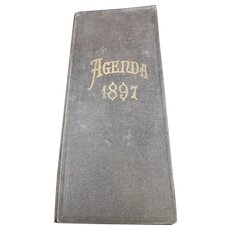 1897 French Agenda - Handwritten From a French Wine Merchant or Trader