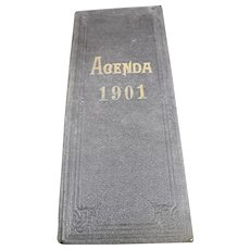 1901 French Agenda - Handwritten From a French Wine Merchant or Trader