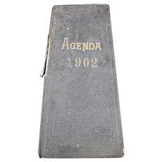 1902 French Agenda - Handwritten From a French Wine Merchant or Trader