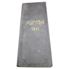 1911 French Agenda - Handwritten From a French Wine Merchant or Trader