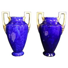 Céramique d'Orchies French Large Amphora Two Handled Vases