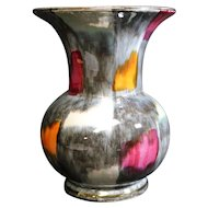 West Germany Bay Multicolored Lustre Stubby Vase