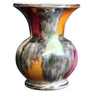 West Germany Bay Multicolored Lustre Mini Vase