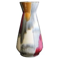 West Germany Bay Multicolored Lustre Tall Vase