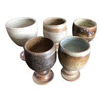 Richard & Jan Chapman - British Art Earthenware Goblets - Set of Five