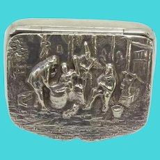 Hans Jensen Danish Silver Plated Pill Box