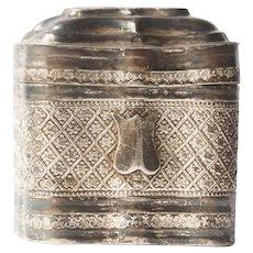 Lodderein Pill Box  .833 silver - Netherlands - Second Half 19th century