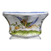 Moustiers Sainte Marie - Highly Decorated Multiple Bud Wall Mountable Vase