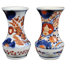 Small Pair of Imari Vases