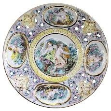 Capodimonte BQ Decorative Plate With Raised Cherubs