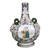 Rare Fourmaintraux Freres, Desvres - Vase - Renaissance - Ceramic