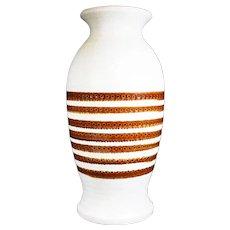Dümler & Breiden Off White & Brown Large Floor Vase