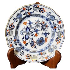 Meissen Onion Pattern Royal Plate - Around 1890 - Porcelain