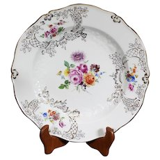 Beautiful Floral Meissen Plate - Porcelain