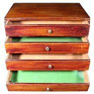 Wooden 4 Drawer Cupboard Originally  From A Closed Jewelers Store