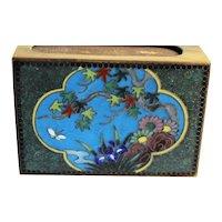 Colorful Birds & Floral Decorated Cloisonné Match Safe