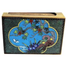 Colorful Birds & Floral Decorated Cloisonné Match Safe