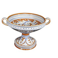 Deruta Footed Bowl With Handle Ears