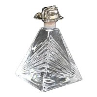 French Cut Crystal Pyramid Perfume Bottle with Stopper