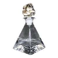 French Crystal Pyramid Perfume Bottle with Stopper