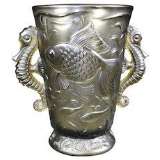 Josef Inwald - Pressed Glass Barolac Seahorse Vase