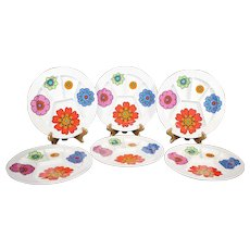 Villeroy & Boch - Set of Six Divided Contemporary Ceramic Plates - Mid 20th Century