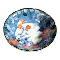 Deep Blue Flora and Fauna Asian Bowl