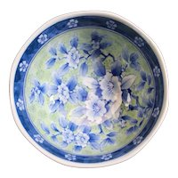 Blue & Pale Yellow Small Asian Bowl