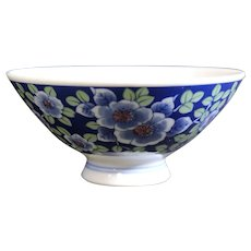 Shaded Blues and Green GFlora & Fauna Small Asian Bowl