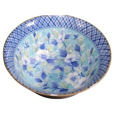 Deeply Clustered Blue Floral Small Asian Bowl