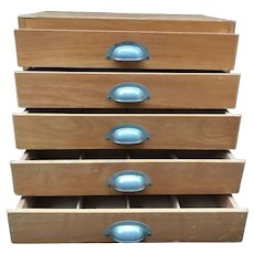 Compact Five Drawer Storage Cabinet